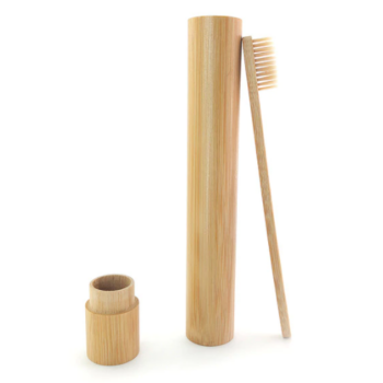 Bambusz fogkefe bambusz tokban natúr