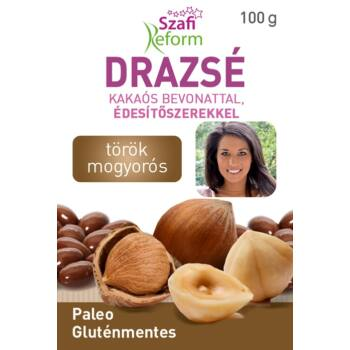 Szafi reform törökmogyorós drazsé kakaó bevonattal, édesítőszerekkel (gluténmentes, paleo) 100 g